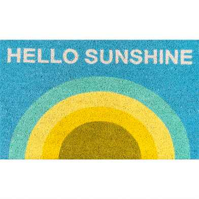 Hello Sunshine Rainbow Coir Doormat