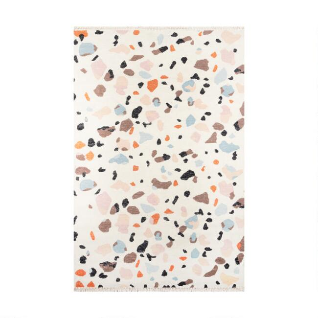 Multicolor Ivory Terrazzo Wool Shoshanna Area Rug