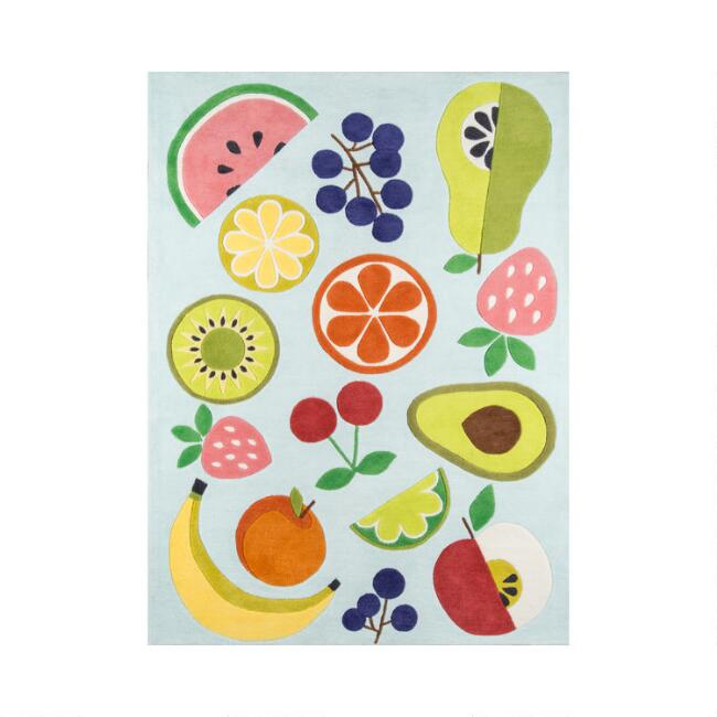 Multicolor Fruit Layla Area Rug