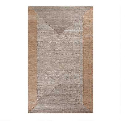 Natural and Tan Woven Jute Eden Area Rug