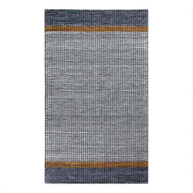 Black and Gray Jute Blend Twilight Area Rug