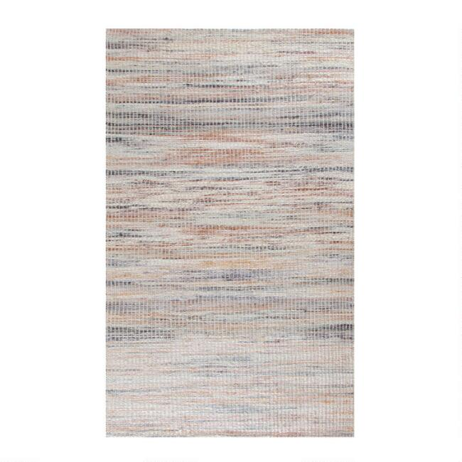 Ivory and Pink Woven Jute Van Nuys Area Rug