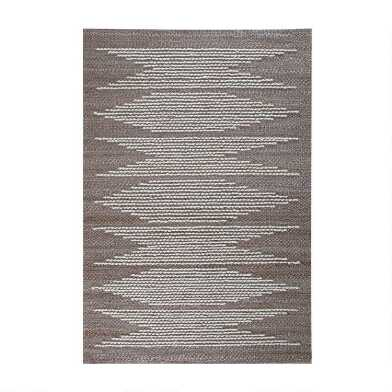 Natural Jute and Ivory Geometric Jute Blend Marconi Area Rug