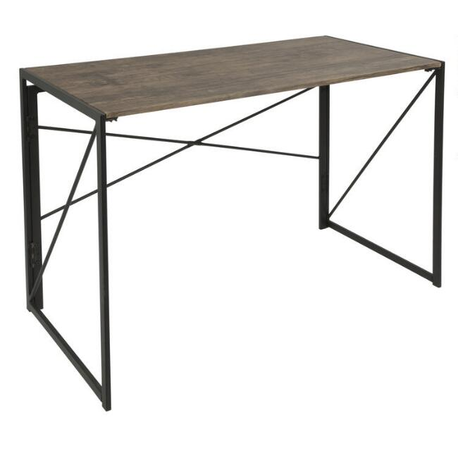 Wood and Metal Avery Desk