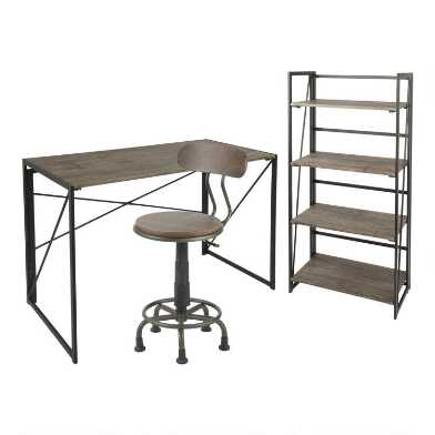 Wood and Metal Avery Home Office Collection