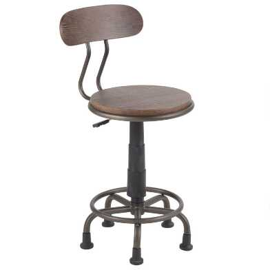 Wood and Metal Avery Office Chair