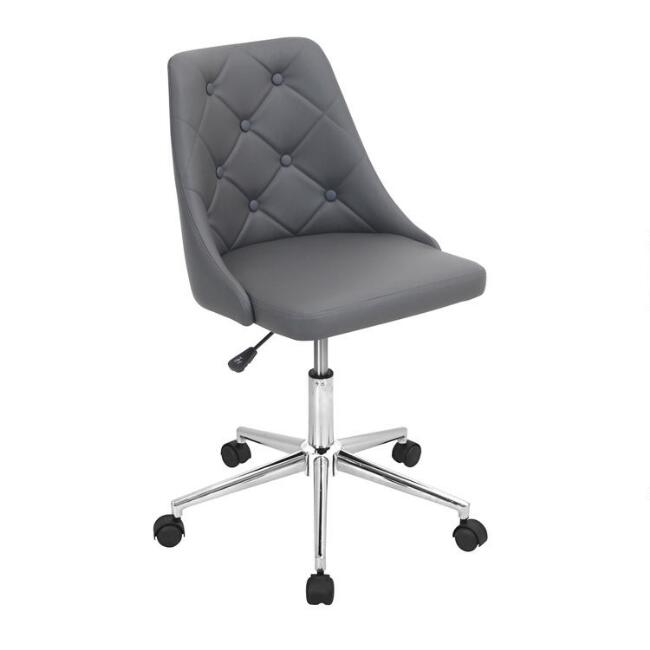 Faux Leather Tufted Aria Upholstered Office Chair