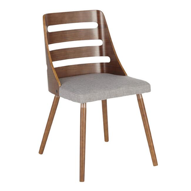 Walnut Wood Wyatt Dining Chair with Upholstered Seat