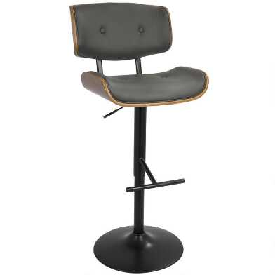 Faux Leather Mid Century Adjustable Liam Stool