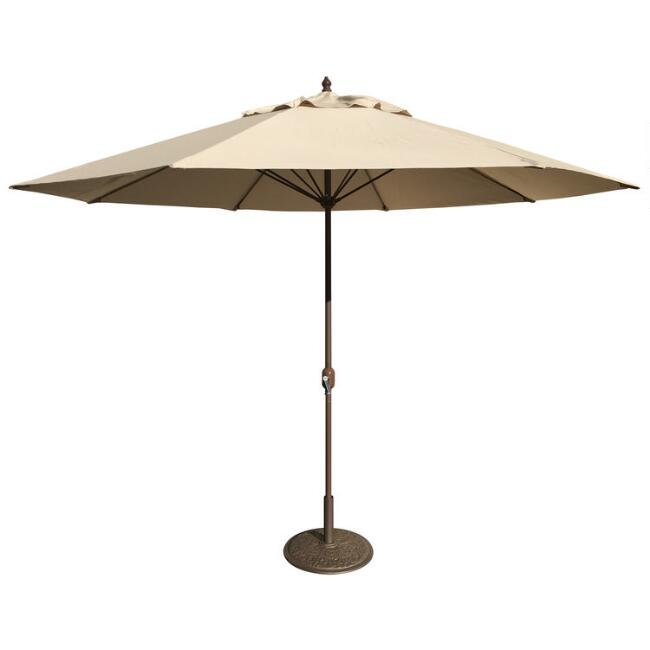 Khaki 11 Ft Outdoor Umbrella