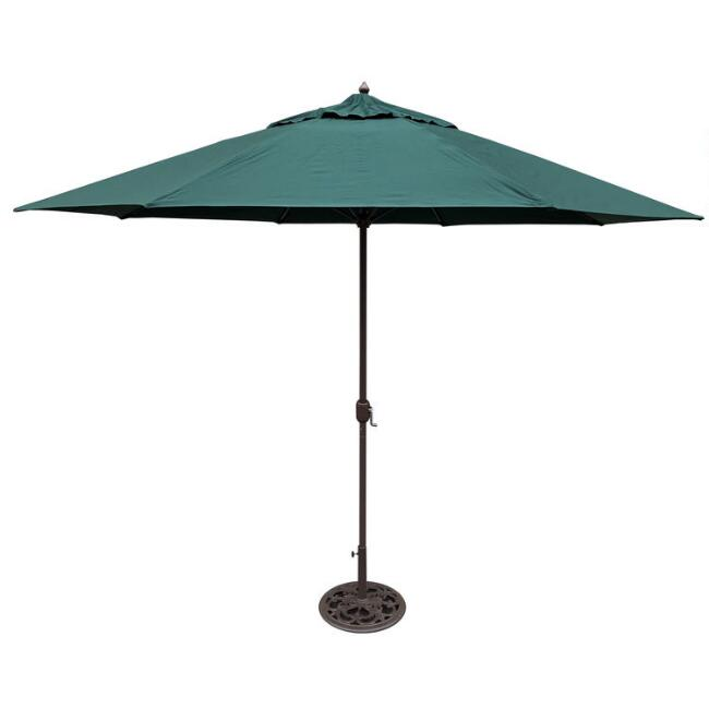 Green 11 Ft Outdoor Umbrella