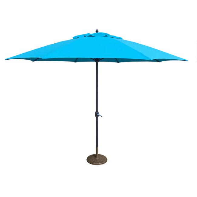 Turquoise 11 Ft Outdoor Umbrella
