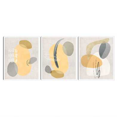 Modego Abstract Framed Canvas Wall Art 3 Piece
