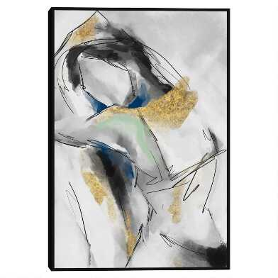 Smoky Figure Framed Canvas Wall Art