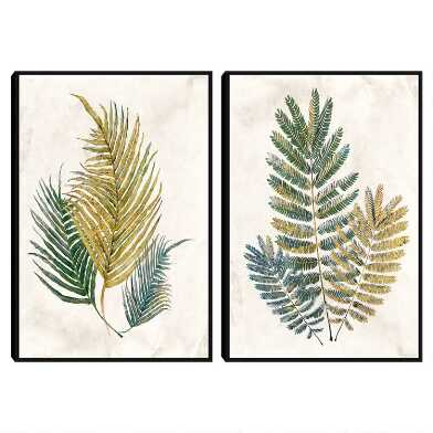 Opulent Ferns Framed Canvas Wall Art 2 Piece