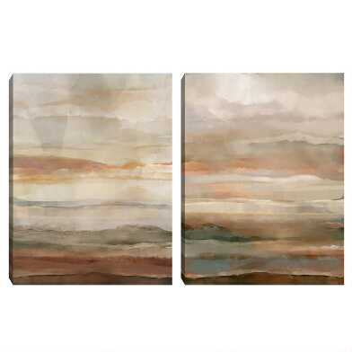Washed Sunset Canvas Wall Art 2 Piece