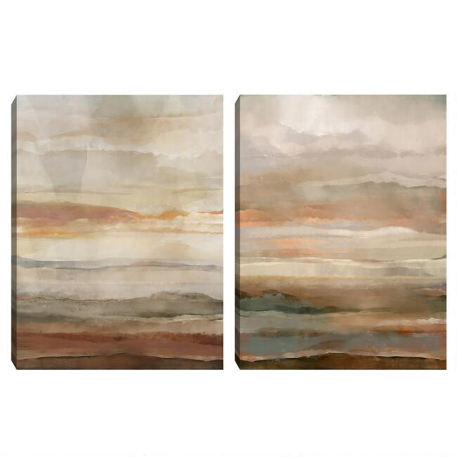 Washed Sunset Canvas Wall Art World Market
