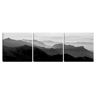 Rolling Mist Triptych by Henry Wentz Framed Wall Art 3 Piece