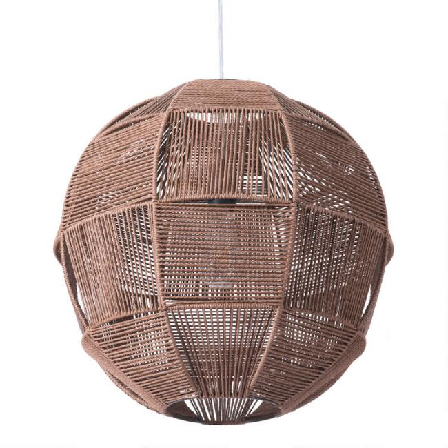 Natural Rope Sphere El Portal Pendant Lamp