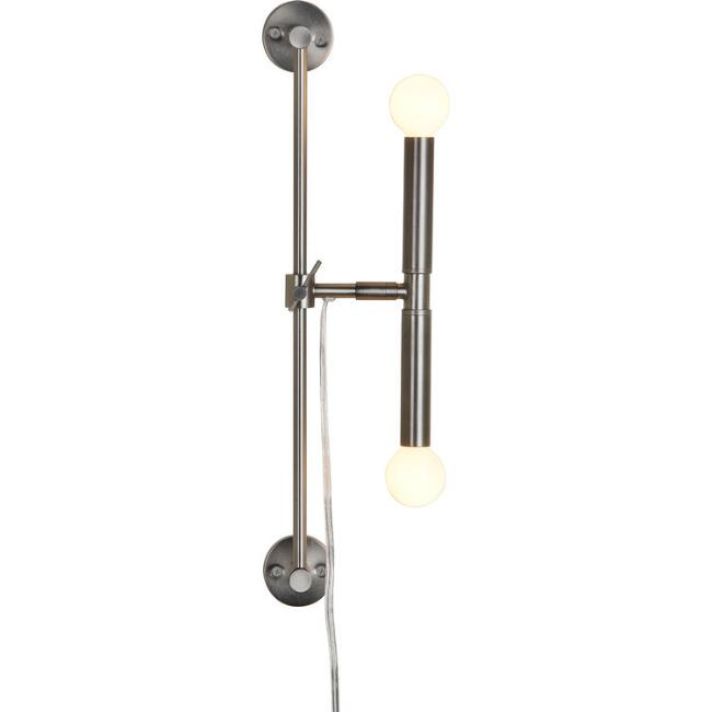 Black Nickel Dual Bulb Gavin Wall Sconce