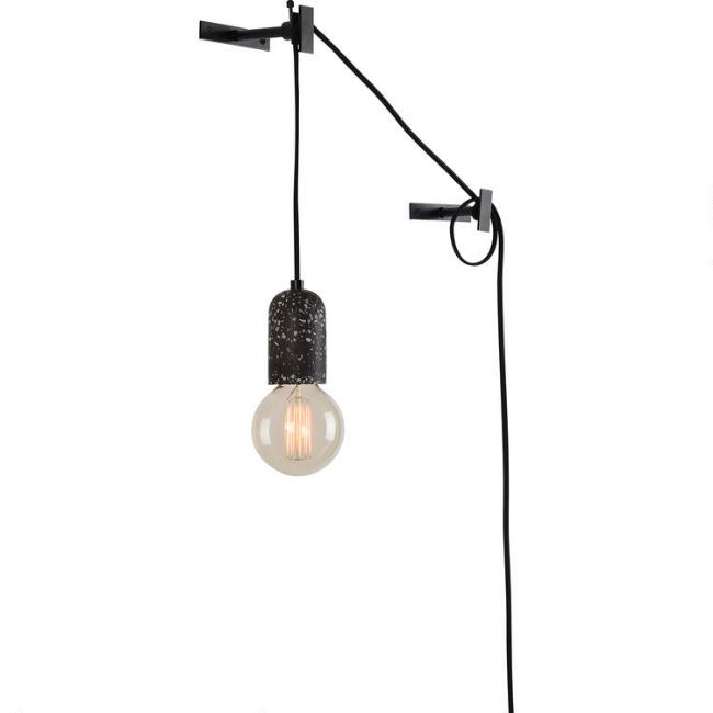 Black Terrazzo Hanging Connor Wall Sconce
