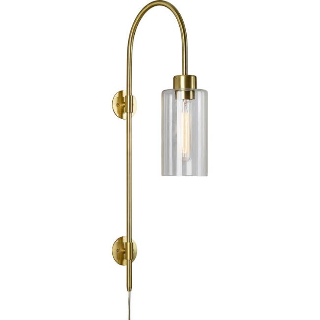 Brass And Glass Layla Wall Sconce