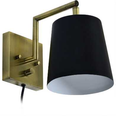 Antique Brass And Black Parker Wall Sconce