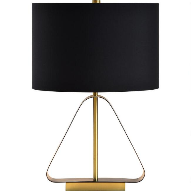 Brass Open Triangle Aubrey Table Lamp