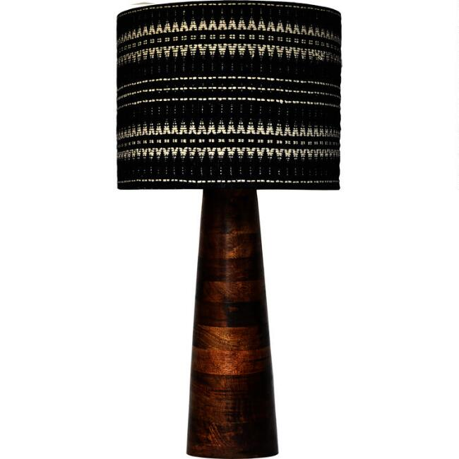 Mango Wood Geo Willow Table Lamp