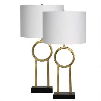 Brass Circle Brayden Table Lamps Set Of 2