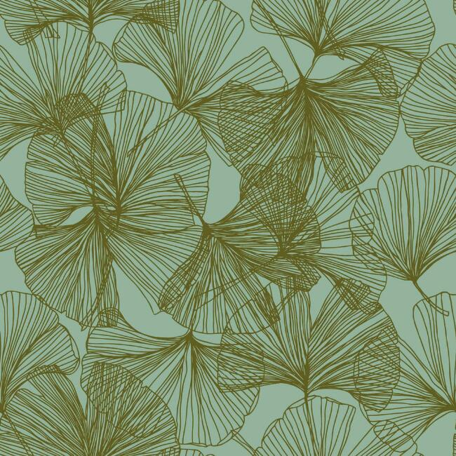 Gold Ginkgo Leaves Peel And Stick Wallpaper