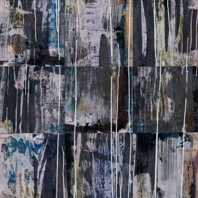 Gray and Blue Washout Peel And Stick Wallpaper