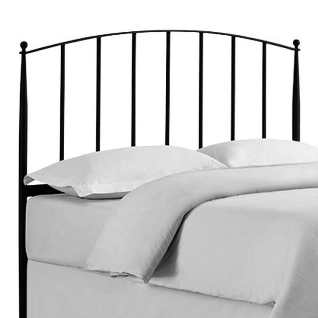 Charcoal Steel Spindle Keily Queen Headboard
