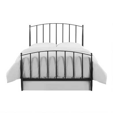 Charcoal Steel Spindle Keily Queen Bed