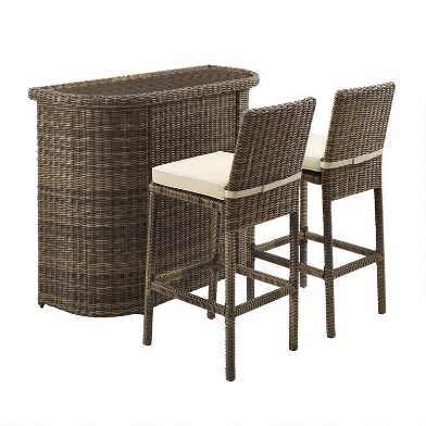 Brown All Weather Wicker Jace Outdoor Bar Collection