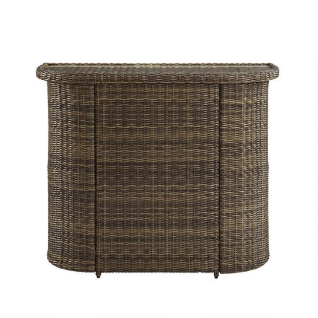 Brown All Weather Wicker Jace Outdoor Bar