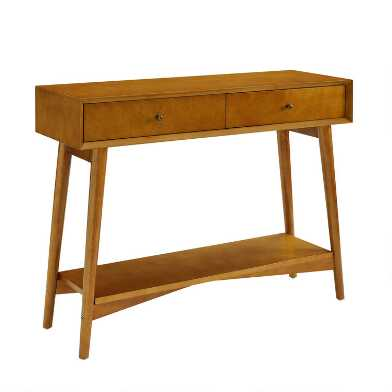 Acorn Wood Mid Century James Console Table