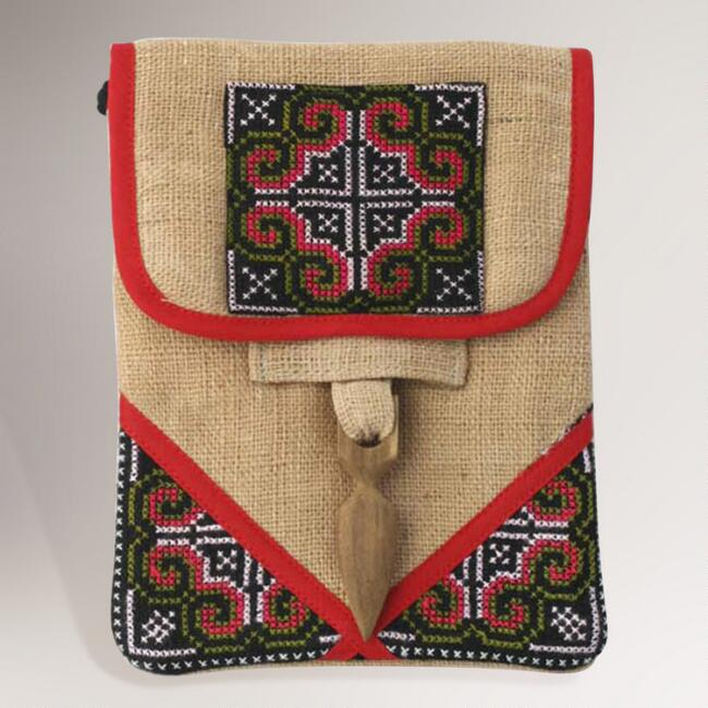 Novica Ultimate Red Hemp Purse and Phone Pouch