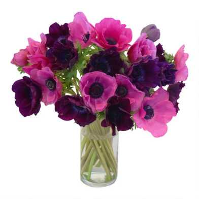 Fresh Hot Pink and Purple Anemone Bunch
