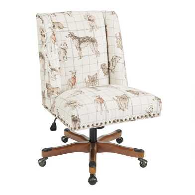 Dog Print Ava Upholstered Office Chair