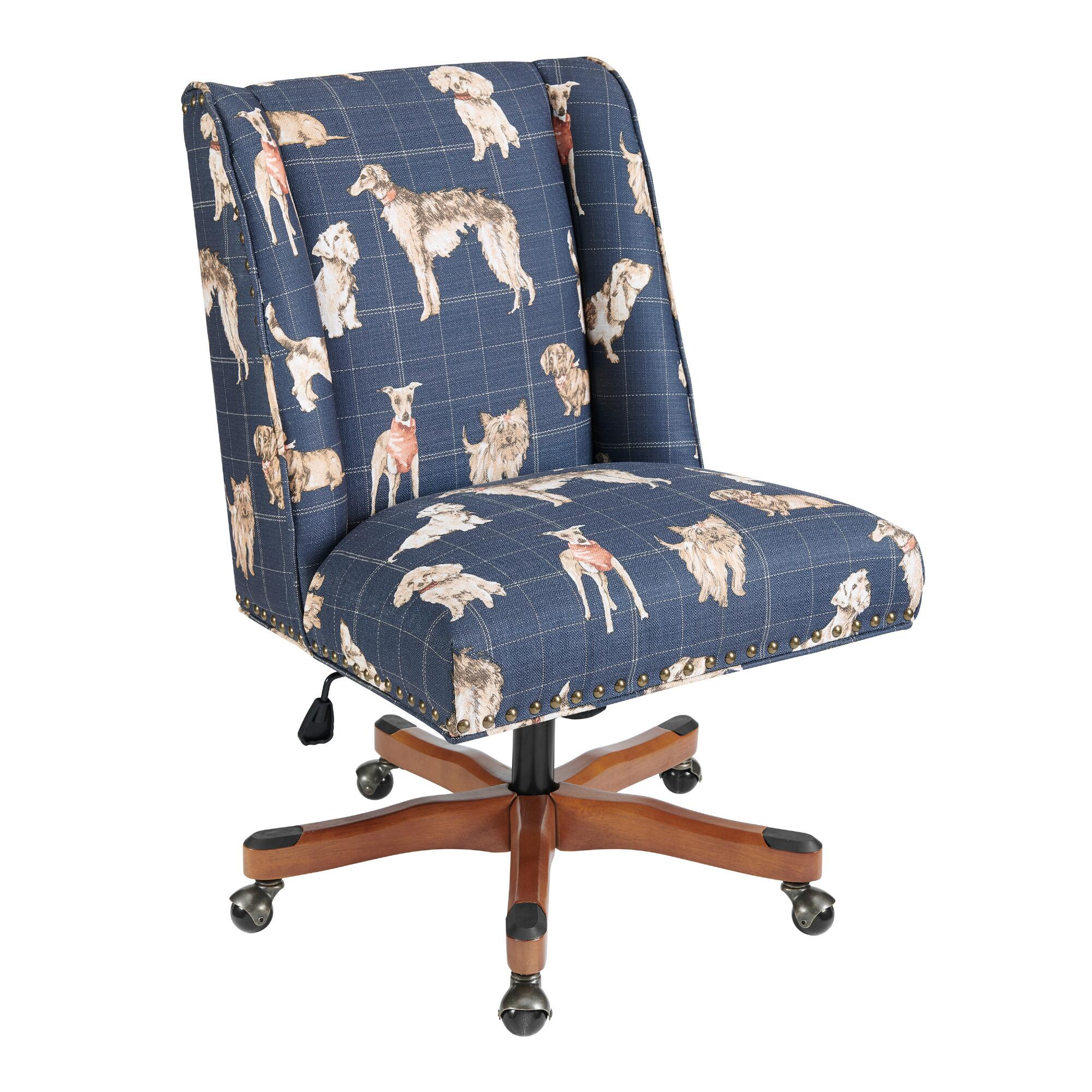Decals For Baby Room, Dog Print Ava Upholstered Office Chair World Market