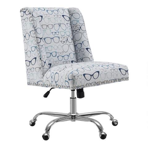 Decals For Baby Room, Eyeglasses Print Ava Upholstered Office Chair World Market