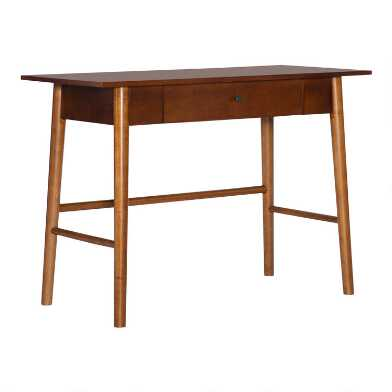 Walnut Brown Wood Oakpark Desk
