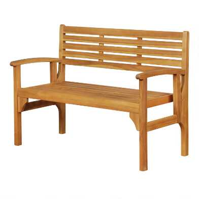 Natural Acacia Grover Outdoor Folding Bench