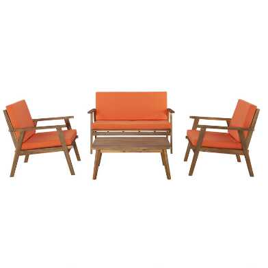 Mid Century Stinson 4 Piece Outdoor Occasional Set