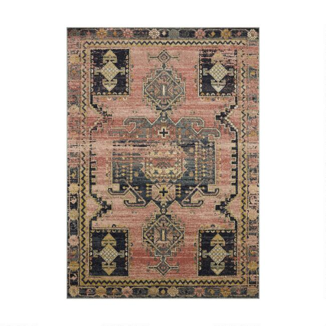 Pink and Gray Julian Area Rug