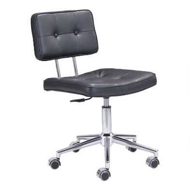 Faux Leather Mid Century Park Office Chair