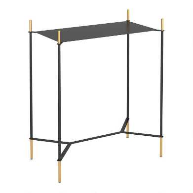 Black and Gold Lincoln End Table