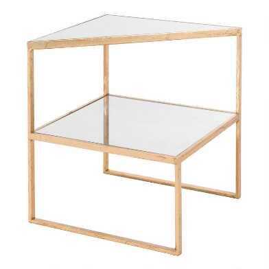 Gold Mirror Top 2 Tier St. Charles End Table