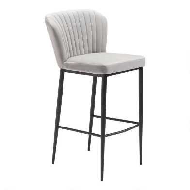 Channel Back Calhoun Upholstered Barstool Set of 2